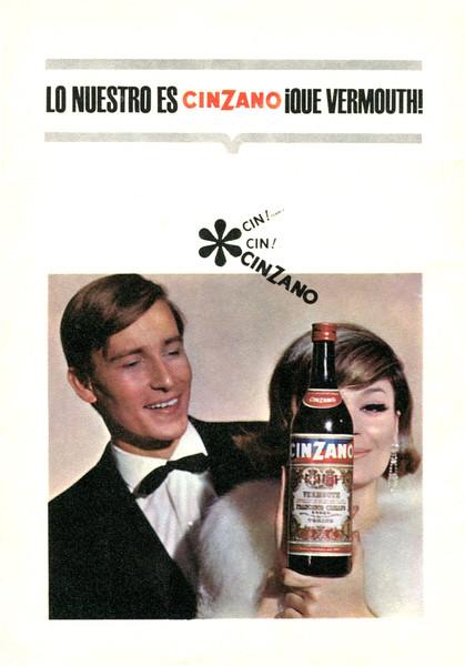 1969 CINZANO vermouth Spain (Liceo theatre program)