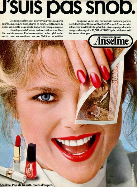 1977 ANSELME make up France  (100 Idées)