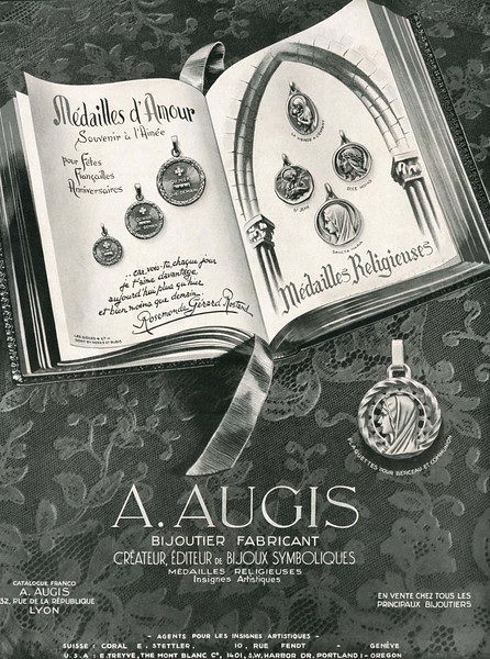 1950 A AUGIS jewellers France (Plaisirs de France)