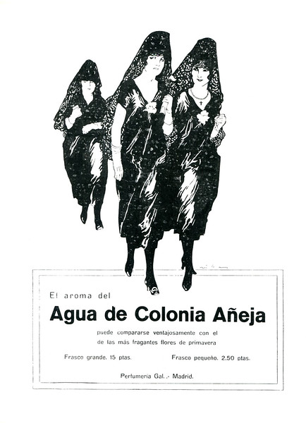 1921 GAL Colonia Añeja fragrance Spain (Blanco y Negro)
