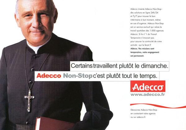 2003 ADECCO employment agency France (spread L'Express)