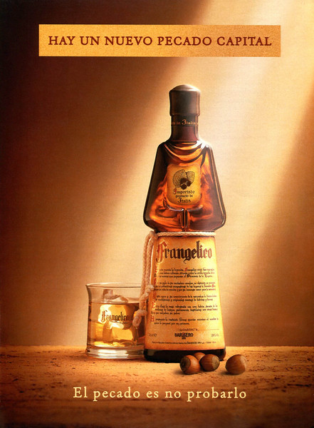 1999 FRANGELICO hazelnut liquor - Spain (La Vanguardia magazine)