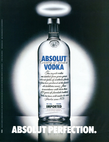 1980 ABSOLUT 'Perfection' Spain (La Vanguardia Magazine)