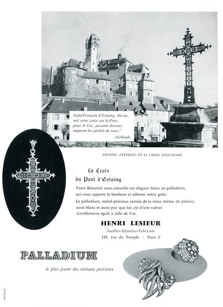 1959 PALLADIUM jewellery France (Vogue)
