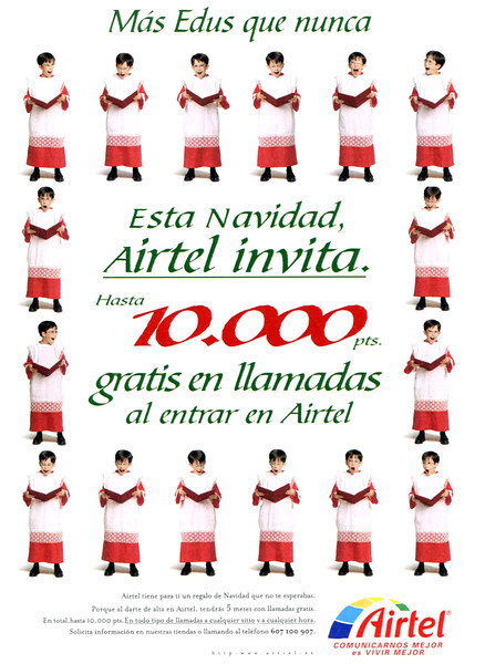 1998 AIRTEL communications Spain (La Vanguardia Magazine)