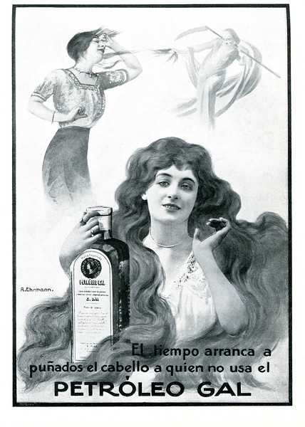 1913 GAL Petroleo hair care: Spain (Mundo Grafico)