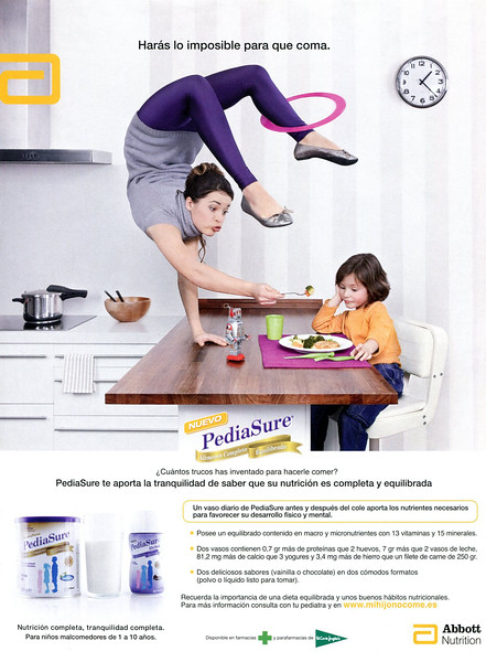 2010 PEDIA SURE infantille nutritional supplements Spain (Telva)