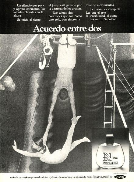 1975 JUPER Napoleon fragrance Spain (Cambio 16)