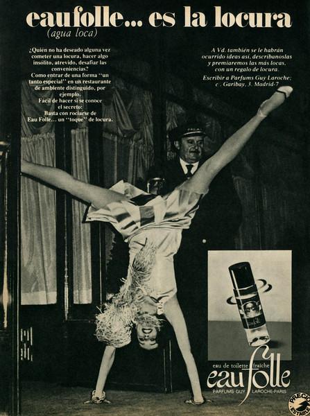 GUY LAROCHE Eau Folle 1977 Spain 'Eau Folle es la locura'