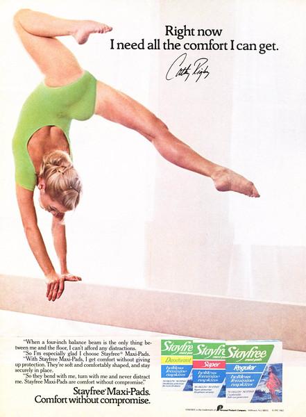 1982 STAYFREE hygienic pads US