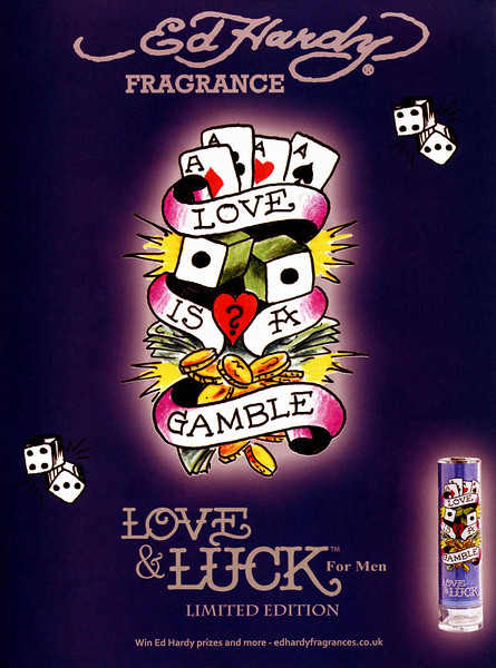 2011 ED HARDY Love & Luck for Men Limited Edition fragrance UK