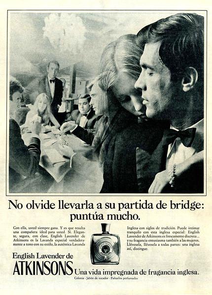 1971 ATKINSONS English Lavender Eau de Cologne Spain