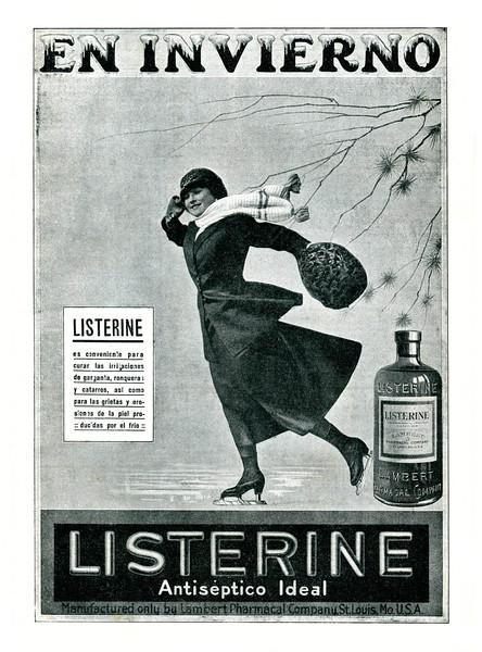 1918 LISTERINE antiseptic Spain (Mundo Gráfico)