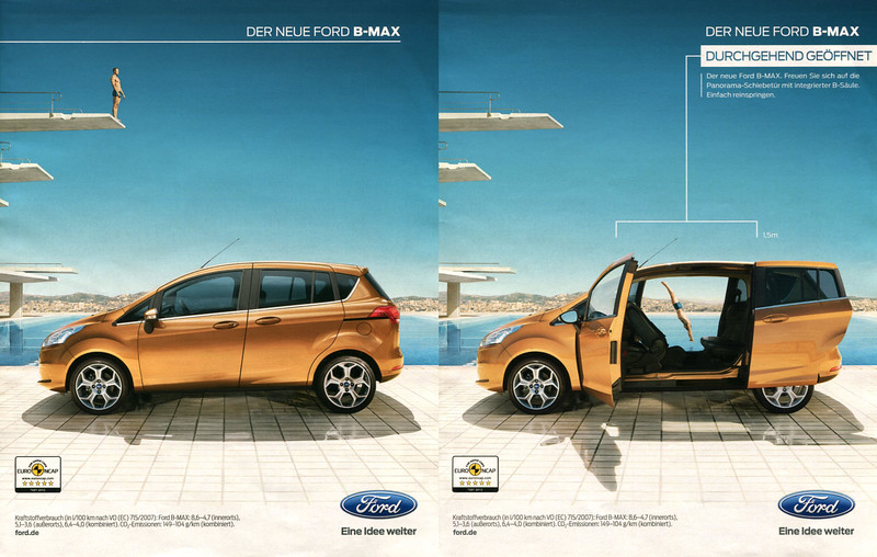 2012 FORD B-Max cars Germany (2 associated pages In Style)
