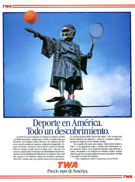 1990 TWA airlines Spain (Viajar)