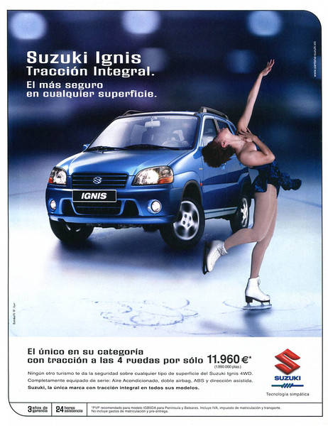 2002 SUZUKI Ignis cars Spain (Dominical)