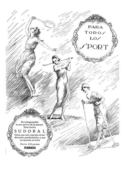 FLORALIA Sudoral deodorant 1924 Spain 'Para todos los sport'