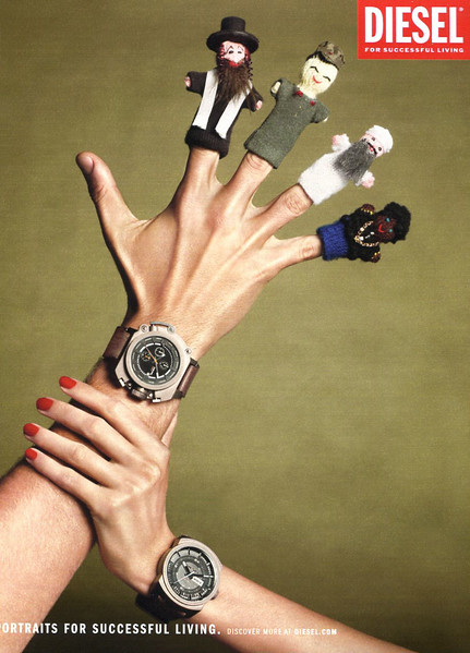 2012 DIESEL watches Italy: (Glamour) 'Portraits for successful living'