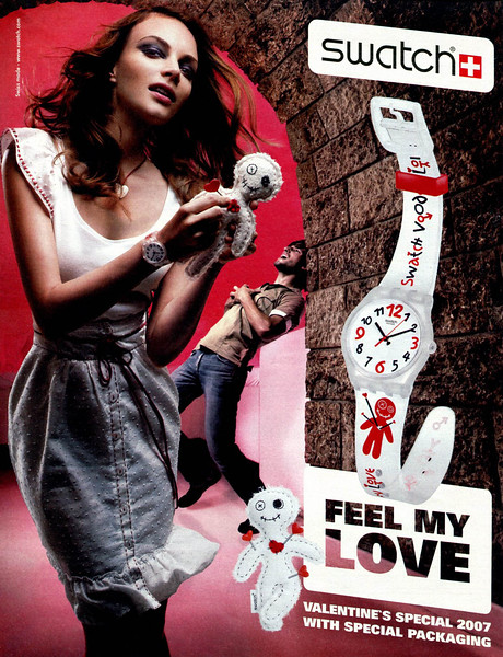 2007 SWATCH wristwatches Valentines's Spain (El País Semanal)