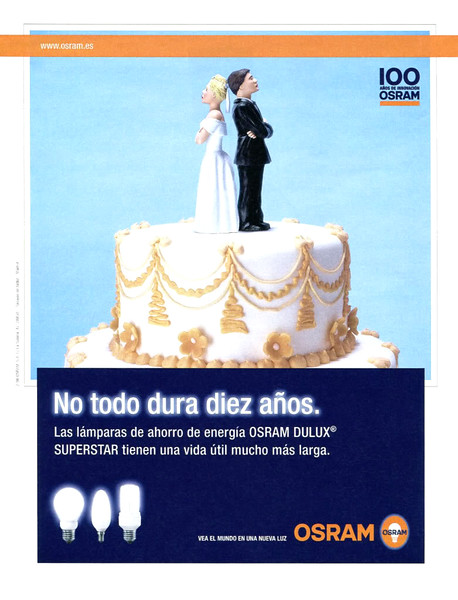 2007 ORAM lightbulbs: Spain (El País Semanal) 'Not everything lasts ten years'