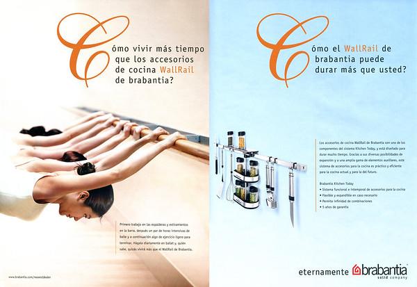 2009 BRABANTIA kitchen wall accessories Spain (Elle Deco)