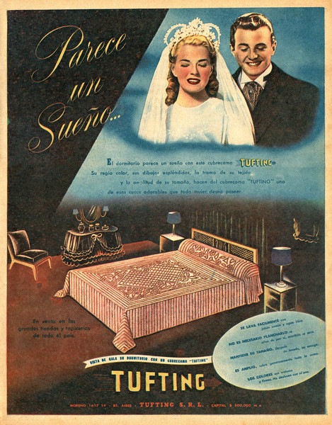 1948 TUFTING bed covers: Argentina (Estampa)