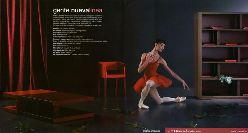 2007 NUEVA LÍNEA furniture Spain (spread Elle Decor) featuring Lucia Lacarra