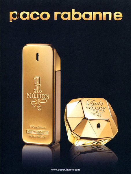 2012 PACO RABANNE Un Million - Lady Million fragrance:s Spain