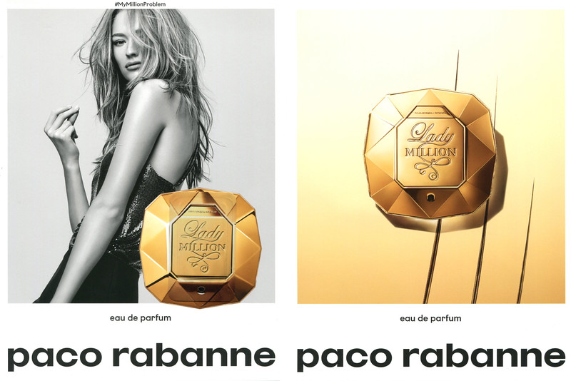 2017  PACO RABANNE Lady Million Eau de Parfum Spain (recto-verso indert Glamour)