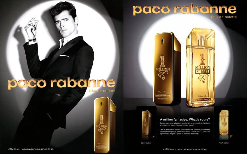 2015 PACO RABANNE 1 Millon Eau de Ttoilette & Cologne: Spain (recto-verso insert Icon)