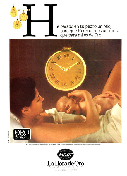 1980 FINOR jewellery: Spain (Dunia) Slogan: 'The Hour of Gold'
