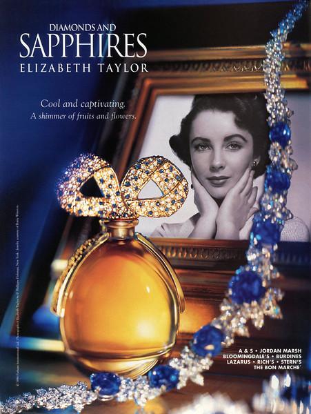 1994 ELIZABETH TAYLOR Diamonds and  Sapphires fragrance: US