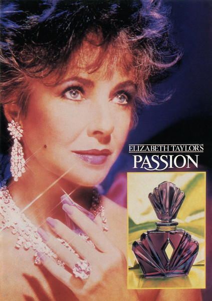1990 ELIZABETH TAYLOR'S Passion fragrance Spain (Hola)