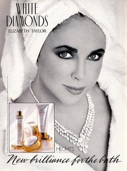 1992 ELIZABETH TAYLOR White Diamonds fragrance: US