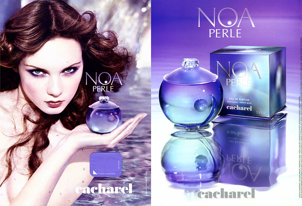 2006 CACHAREL Noa Perle fragrance: Spain (recto-verso with scent sticker)