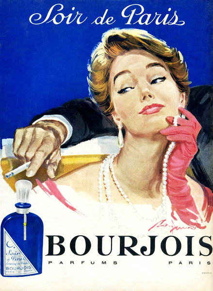 1957 BOURJOIS Soir de Paris fragrance France