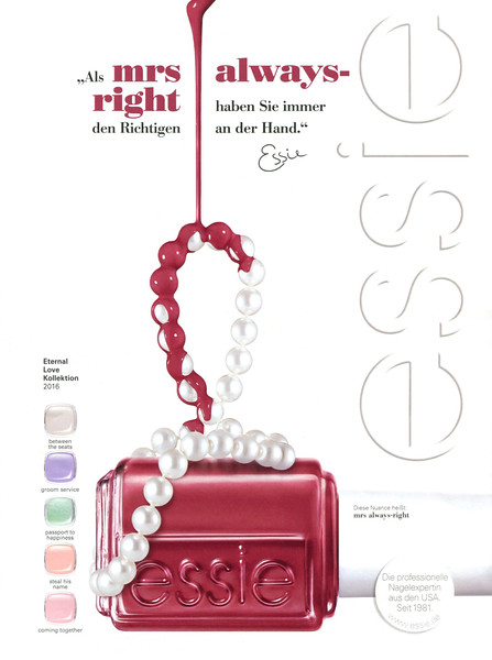2016 ESSIE Eternal Love Collection naill lacquer Germany (Cosmopolitan)