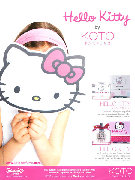 2008 KOTO Hello Kitty fragrance: France