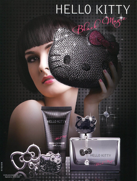2012 HELLO KITTY Black Magic fragrance: Hong Kong