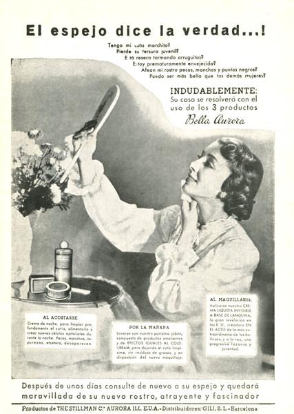 BELLA AURORA 1956 Spain 'El espejo dice la verdad...!'