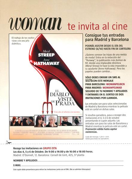 2006 DEVIL WEARS PRADA DVD Spain (Woman)