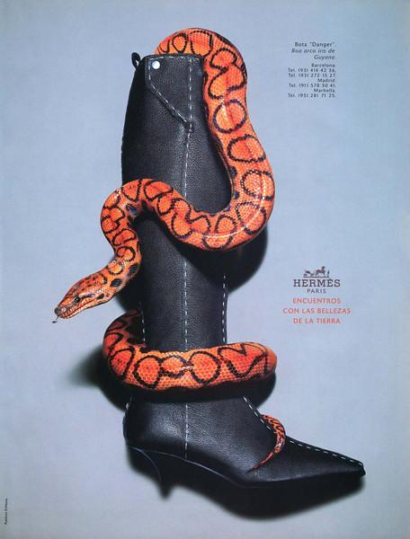 2001 HERMÈS 'Danger' boots Spain