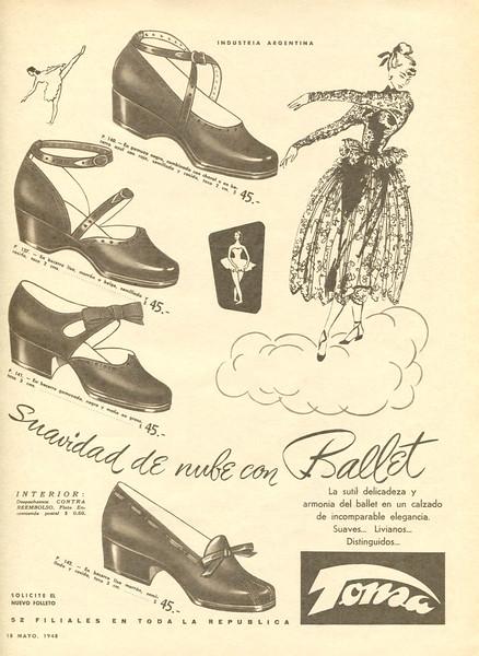 1948 TONSA shoes Argentina (Para Ti)