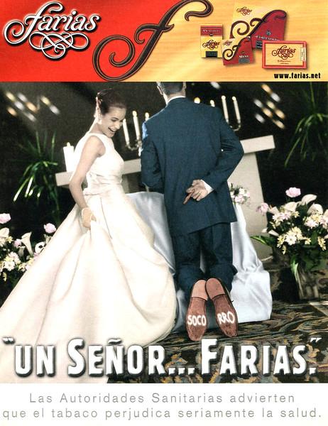 "2001 FARIAS cigars: Spain (El País Semanal) Inscription on the shoe soles: ""HELP!"""