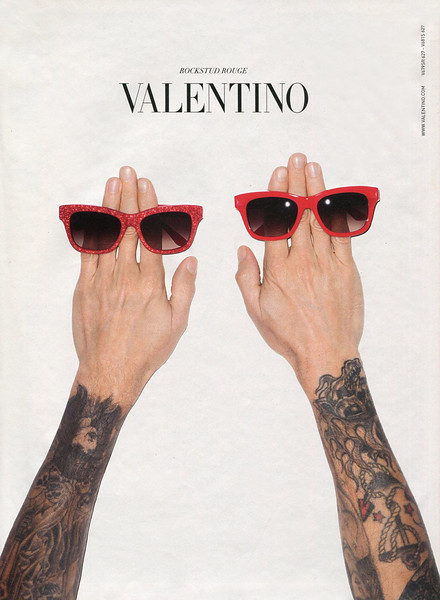 2015 VALENTINO sunglsses: Italy (Vanity Fair) by &  featuring Terry Richardson