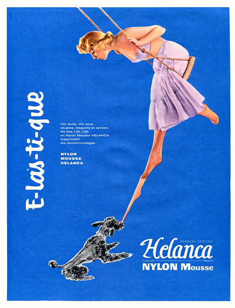 1956 HELANCA stockings France