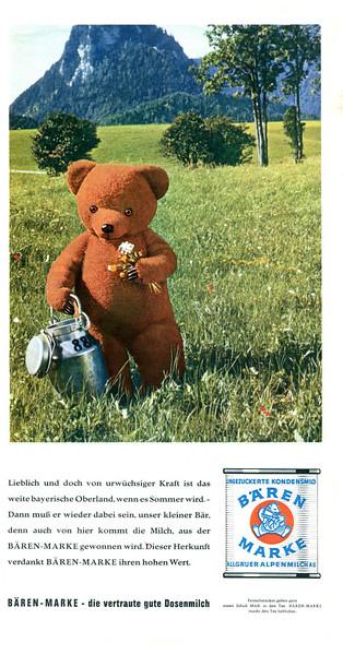1959 BAEREN MARKE condensed milk: Germany (Film & Frau)