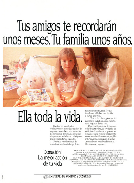 1986 SPANISH MINISTRY OF HEALTH Spain (Lecturas)