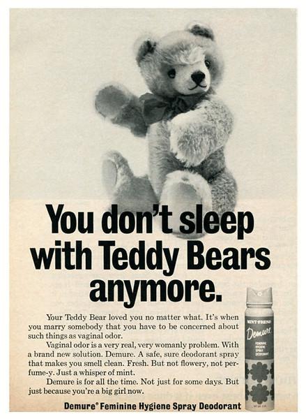 1969 DEMURE deodorants: US (Ladies' Home Journal)