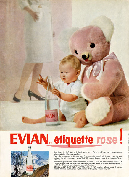 1961 EVIAN water: France (Marie Claire)